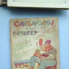 Tebeos: CALENDARI D´EN PATUFET 1936. Lote 20362274