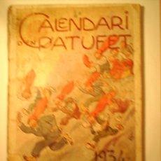 Tebeos: CALENDARI D´EN PATUFET 1934. Lote 20345944