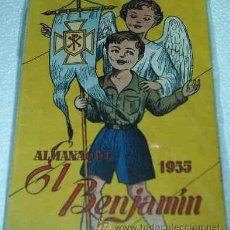 Tebeos: EL BENJAMIN -- ALMANAQUE 1955 -- PRECIOSO ORIGINAL CON SU RECORTABLE MUÑECA JUANITA. Lote 10977504