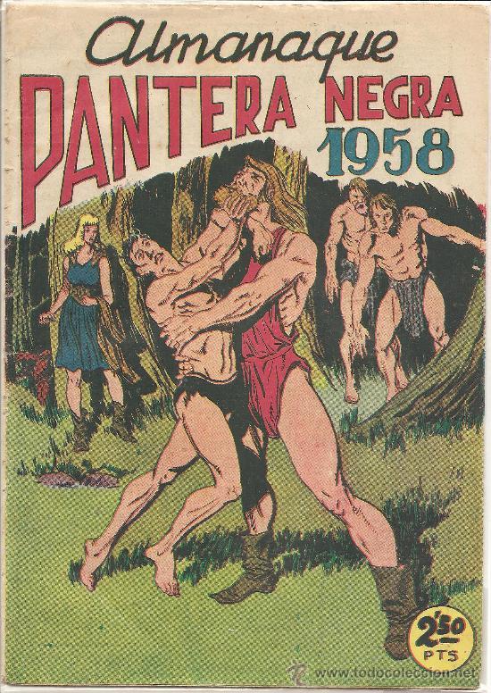 ALMANAQUE PANTERA NEGRA PARA 1958 ORIGINAL (Tebeos y Comics - Tebeos Almanaques)