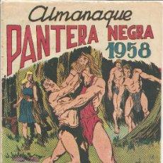 Tebeos: ALMANAQUE PANTERA NEGRA PARA 1958 ORIGINAL. Lote 26089437