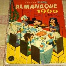 Tebeos: DUMBO ALMANAQUE 1960. ERSA 25 PTS. WALT DISNEY. Y DIFÍCIL!!!!!!!!!!. Lote 26142547