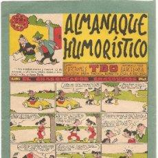 Tebeos: ALMANAQUE HUMORISTICO EDICIONES T.B.O. 1961. Lote 25919778
