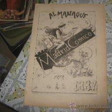 Tebeos: MADRID COMICO ALMANAQUE 1887,LOTE MA,CAJA 6.. Lote 22052690