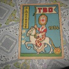 Tebeos: TBO ALMANAQUE 1934,FALTA CONTRAPORTADA.. Lote 22532945