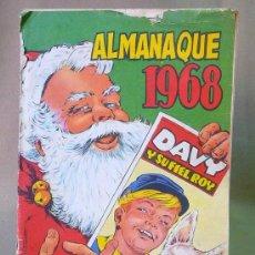 Tebeos: COMIC, ORIGINAL, ALMANAQUE 1968, DAVY Y SU FIEL ROY, OLIVE Y HONTORIA, REVISTA JUVENIL Nº 330. Lote 22953680