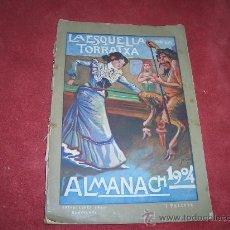 Tebeos: LA ESQUELLA DE LA TORRATXA ALMANACH 1904. Lote 27604617