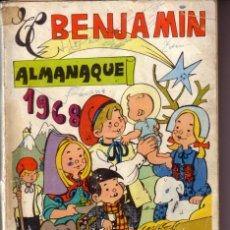 Tebeos: ALMANAQUE ORIGINAL DE EL BENJAMIN 1968. Lote 26612005