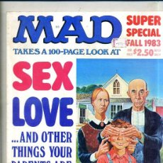 Tebeos: MAD SUPER SPECIAL SEX LOVE AND OTHER THINGS YOUR PARENTS ARE AGAINST (1983). Lote 48853982