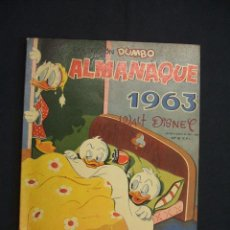 Tebeos: COLECCION DUMBO - WALT DISNEY - ALMANAQUE 1963 - EXCELENTE ESTADO -. Lote 28108365