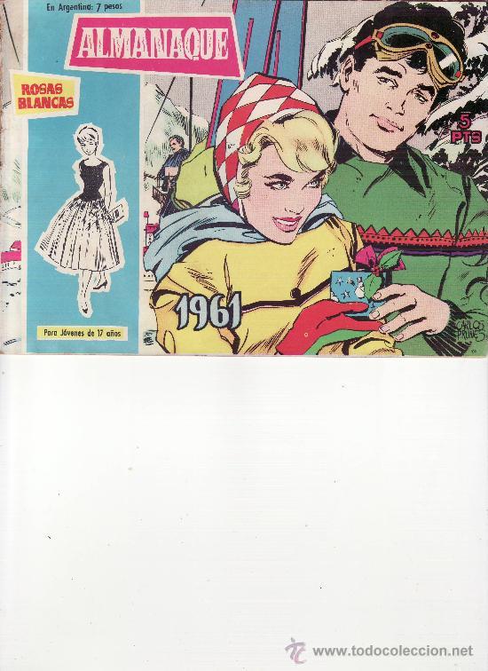 ALMANAQUE ROSAS BLANCAS 1961 (Tebeos y Comics - Tebeos Almanaques)