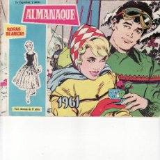 Tebeos: ALMANAQUE ROSAS BLANCAS 1961. Lote 28123065