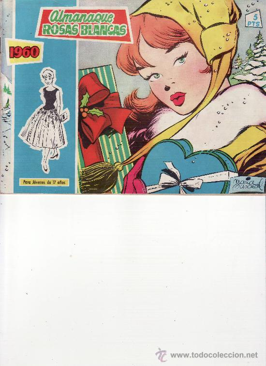 ALMANAQUE ROSAS BLANCAS 1960 (Tebeos y Comics - Tebeos Almanaques)