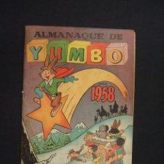 Tebeos: ALMANAQUE DE YUMBO PARA 1958 - EDICIONES CLIPER -. Lote 28177483