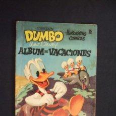 Tebeos: COLECCION DUMBO - ALBUM DE VACACIONES - WALT DISNEY - ERSA -. Lote 28425864