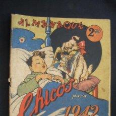 Tebeos: ALMANAQUE CHICOS PARA 1942 - RARISIMO -. Lote 28439636