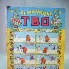 Tebeos: COMIC, ALMANAQUE, EDICIONES TBO, 1958, UN POCO CON RAJAS EN LOS BORDES, HOJAS SUELTAS. Lote 28507830