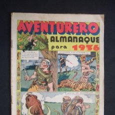 Tebeos: ALMANAQUE AVENTURERO PARA 1936 - ES EL PRIMER ALMANAQUE QUE SALIO DEL AVENTURERO - MUY DIFICIL -. Lote 28447878