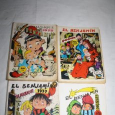 Tebeos: 0087- LOTE DE 4 TEBEOS - ALMANAQUE EL BENJAMÍN - AÑOS 1975/76/77/78 + 1 SUPLEMENTO. Lote 28588249