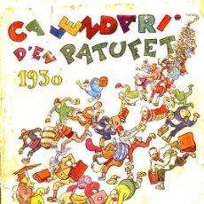 Tebeos: CALENDARI D'EN PATUFET 1930. Lote 29464053