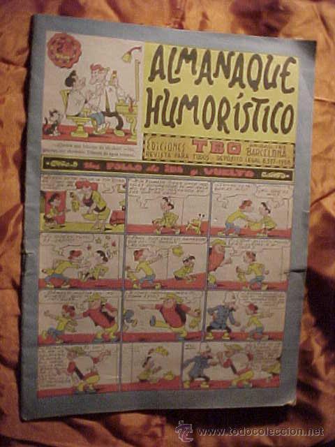 ALMANAQUE HUMORISTICO. EDICIONES TBO. REVISTA PARA TODOS. AÑOS 1958 * (Tebeos y Comics - Tebeos Almanaques)