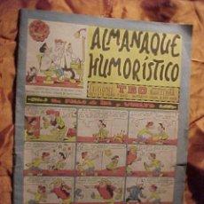Tebeos: ALMANAQUE HUMORISTICO. EDICIONES TBO. REVISTA PARA TODOS. AÑOS 1958 *. Lote 30386200