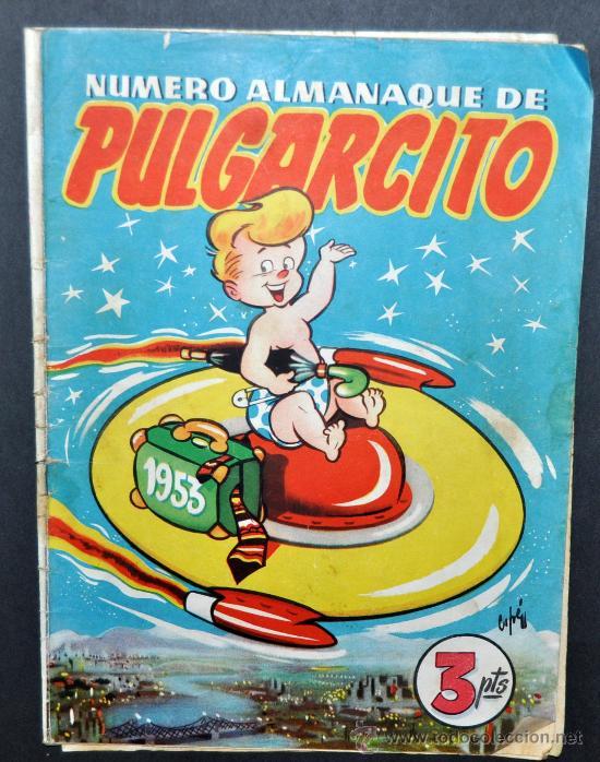 ALMANAQUE DE PULGARCITO DEL AÑO 1953. (Tebeos y Comics - Tebeos Almanaques)