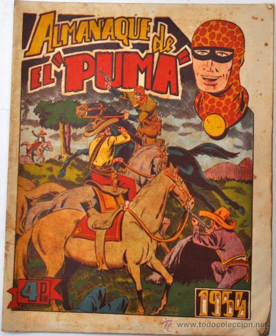 IMPORTANTE ALMANAQUE DE EL PUMA DEL AÑO 1954. EDITORIAL MARCO. CON DIORAMA EN EL INTERIOR (Tebeos y Comics - Tebeos Almanaques)
