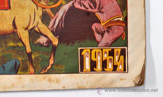 Tebeos: IMPORTANTE ALMANAQUE DE EL PUMA DEL AÑO 1954. EDITORIAL MARCO. CON DIORAMA EN EL INTERIOR - Foto 2 - 32136904