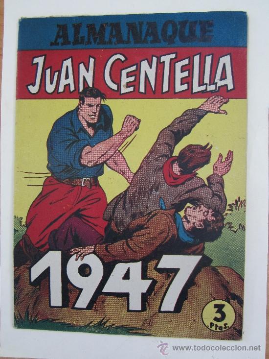 ALMANAQUE , 1947 JUAN CENTELLA Y JORGE Y FERNANDO , HISPANO AMERICANA - COMO, NUEVO (Tebeos y Comics - Tebeos Almanaques)