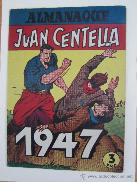Tebeos: almanaque , 1947 juan centella y jorge y fernando , hispano americana - como, nuevo - Foto 2 - 32171737