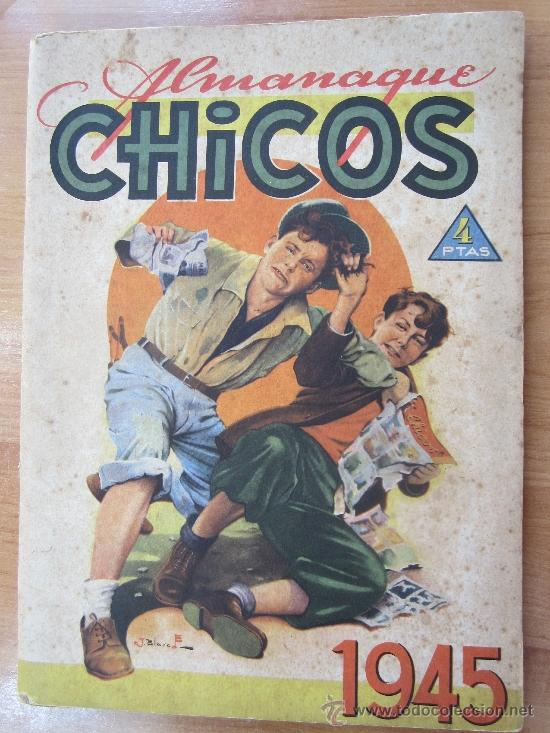 ALMANAQUE CHICOS 1945 , TALLERES OFFSET , SAN SEBASTIAN (Tebeos y Comics - Tebeos Almanaques)