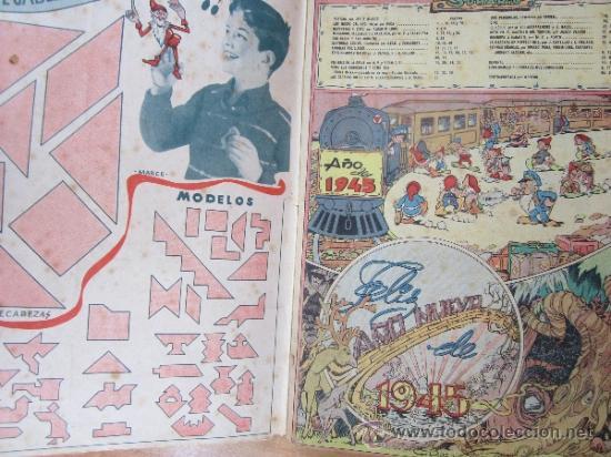 Tebeos: almanaque chicos 1945 , talleres offset , san sebastian - Foto 2 - 32200305