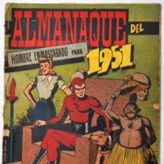 Tebeos: ALMANAQUE DEL HOMBRE ENMASCARADO DEL AÑO 1951. Lote 32946338