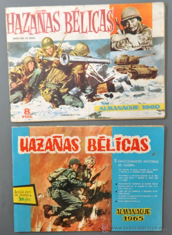 2 ALMANAQUES DE HAZAÑAS BÉLICAS DEL AÑO 1960 Y 1965. (Tebeos y Comics - Tebeos Almanaques)