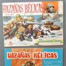 Tebeos: 2 ALMANAQUES DE HAZAÑAS BÉLICAS DEL AÑO 1960 Y 1965.. Lote 32946669