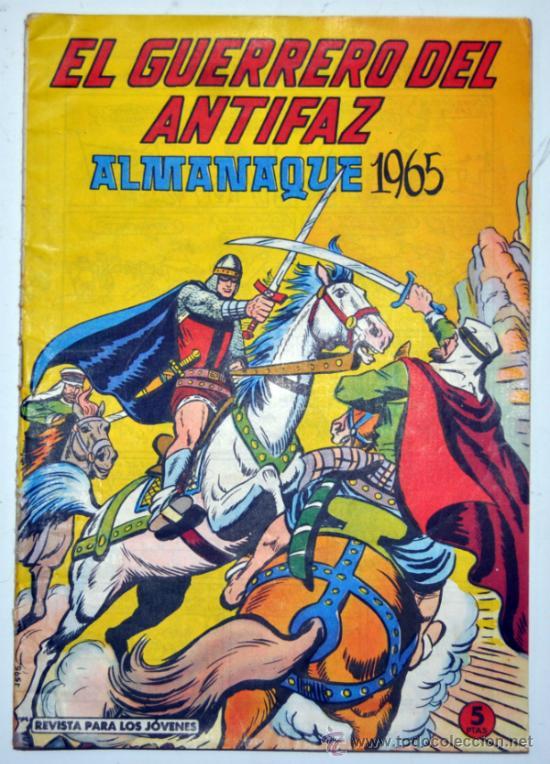 ALMANAQUE DE EL GUERRERO DEL ANTIFAZ 1965. ED. VALENCIANA (Tebeos y Comics - Tebeos Almanaques)