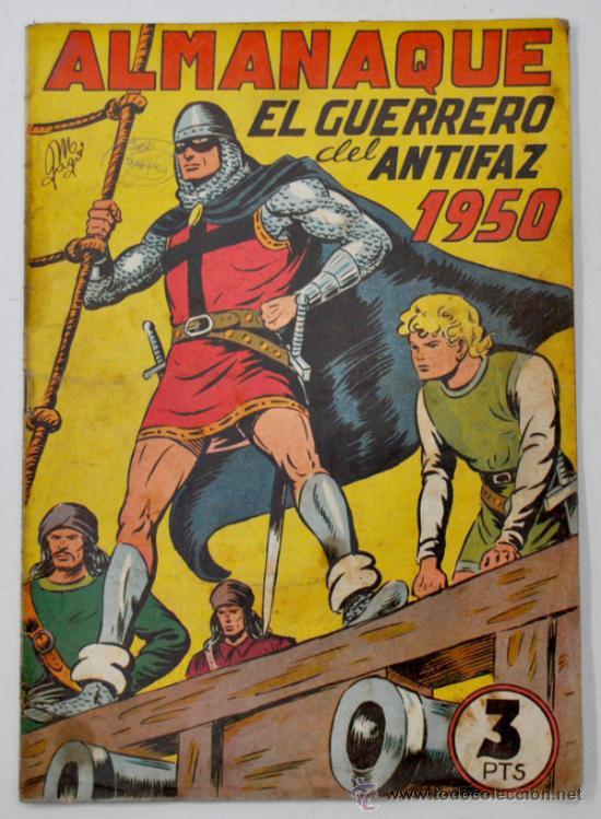 ALMANAQUE DE EL GUERRERO DEL ANTIFAZ 1950. ED. VALENCIANA (Tebeos y Comics - Tebeos Almanaques)