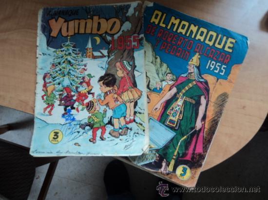 ALMANAQUE 1955 DE YUMBO Y DE ROBERTO ALCÁZAR Y PEDRÍN. VER DESCRIPCIÓN (Tebeos y Comics - Tebeos Almanaques)