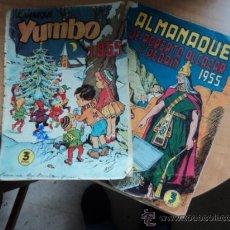 Tebeos: ALMANAQUE 1955 DE YUMBO Y DE ROBERTO ALCÁZAR Y PEDRÍN. VER DESCRIPCIÓN. Lote 32448259