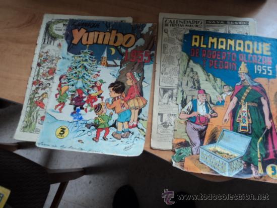 Tebeos: Almanaque 1955 de Yumbo y de Roberto Alcázar y Pedrín. Ver descripción - Foto 2 - 32448259