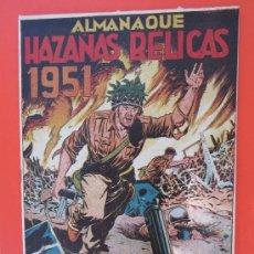 Tebeos: ALMANAQUE HAZAÑAS BELICAS 1951, BOIXCAR , ESTA COMO NUEVO, ORIGINAL , EDICIONES TORAY. Lote 33071341