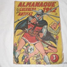 Tebeos: ALMANAQUE EL GUERRERO DEL ANTIFAZ 1952. Lote 33658539