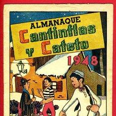 Tebeos: ALMANAQUE CANTINFLAS Y CATETO, 1948 , EDICIONES LERSO , VALENCIA, ORIGINAL ,J. Lote 35137888