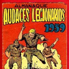 Tebeos: ALMANAQUE AUDACES LEGIONARIOS , 1959 , ORIGINAL ,J21. Lote 35348601