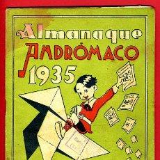 Tebeos: ALMANAQUE ANDROMACO, 1935 , TEMA FARMACIA Y MEDICINA , ORIGINAL. Lote 87123227