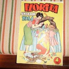 Livros de Banda Desenhada: FLORITA ALMANAQUE 1954. Lote 36492894