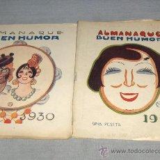 Tebeos: ALMANAQUE BUEN HUMOR 1930 Y 1931. UNA PESETA. MUY DIFÍCILES.. Lote 37327620