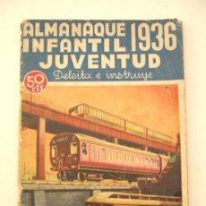 Tebeos: ALMANAQUE REVISTA INFANTIL JUVENTUD 1936. Lote 37797610