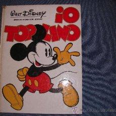 Tebeos: WALT DISNEY MICKEY IO TOPOLINO TOMO GIGANTE MONDADORI 272 PAGINAS CON DOMINICALES ENTRE 1930 Y 1937. Lote 37970757